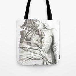 Human Anatomy Art Print LUNG AORTA HEART Vintage Anatomy, doctor medical art, Antique Book Plate, Me Tote Bag