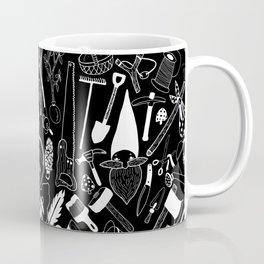 Gnome and his tools - White Coffee Mug