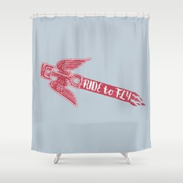 ride to fly Shower Curtain
