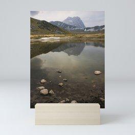 view of lake in Abruzzo  Mini Art Print