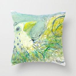 Imaginary Bird Throw Pillow