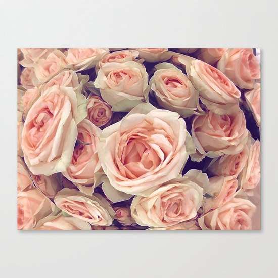Pink Roses In A Bubble Canvas Print