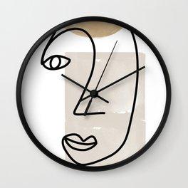 Line Art, She I Wall Clock