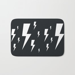 Lightning bolts Bath Mat
