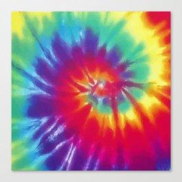 Tie Dye Swirl Pattern Canvas Print