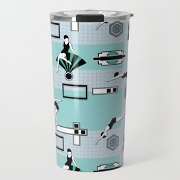 Art Deco Swimmers Travel Mug