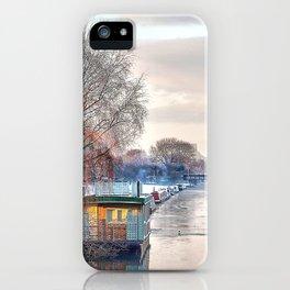 Winter Canal Scene iPhone Case