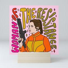"""Woman of the Resistance - Leia Skywalker"" by Doodle by Meg Mini Art Print"