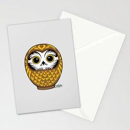 Brown Fukuro Daruma Stationery Cards