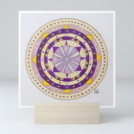 Sea Urchin Mandala Mini Art Print
