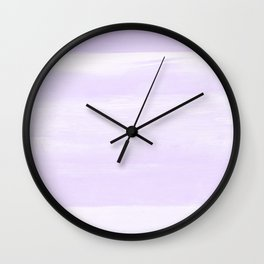 Soft Lavender Watercolor Abstract Minimalism #1 #minimal #painting #decor #art #society6 Wall Clock