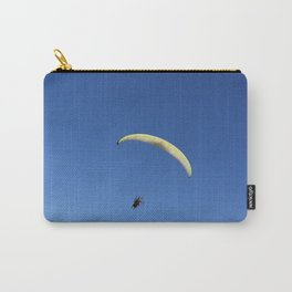 Pargliding man over bleu sky Carry-All Pouch