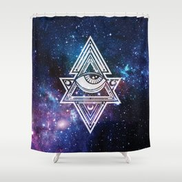 The All Seeing Eye Roll - Deep Space Shower Curtain