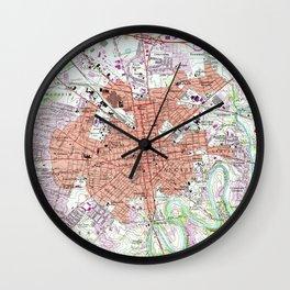 Vintage Map of Lancaster Pennsylvania (1956) 2 Wall Clock