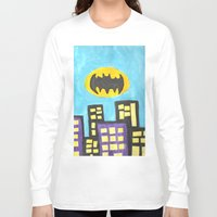 bat Long Sleeve T-shirts featuring Bat by Marialaura