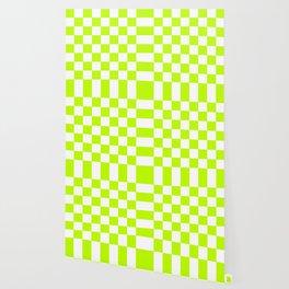 Checker (Lime/White) Wallpaper