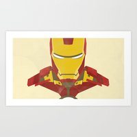 iron man Art Prints featuring IRON MAN by LindseyCowley