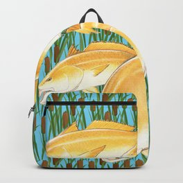 Live for the Catch- Red Fish Backpack