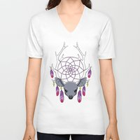 dreamcatcher V-neck T-shirts featuring Dreamcatcher by Freeminds