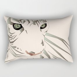 Tiger's Tranquility Rectangular Pillow