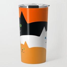 Halloween Cat Family Travel Mug