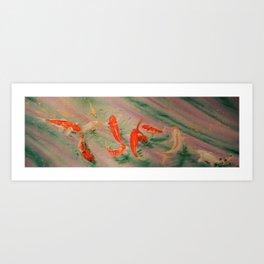 Koi River Art Print