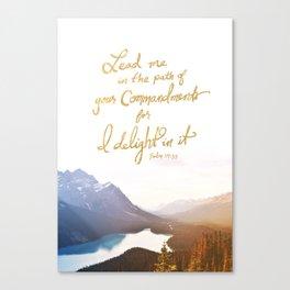 Psalm 119:35 Canvas Print