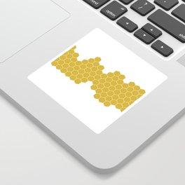Honeycomb White Sticker