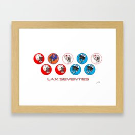 1970's Lax Champs Framed Art Print