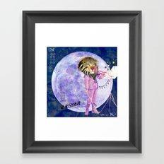 Moonlight Lion Strings  Framed Art Print