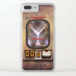 Time machines flux capacitor iPhone 4 5 6 7 8 x, tshirt, mugs and pillow case Clear iPhone Case