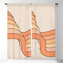 Tangerine Ribbon Blackout Curtain