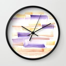 170603 Watercolour Colour Study 7 Wall Clock
