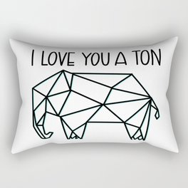 I Love You A Ton Rectangular Pillow