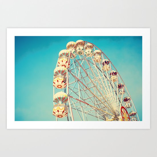 All Die Young, Ferris Wheel on Blue Sky Art Print