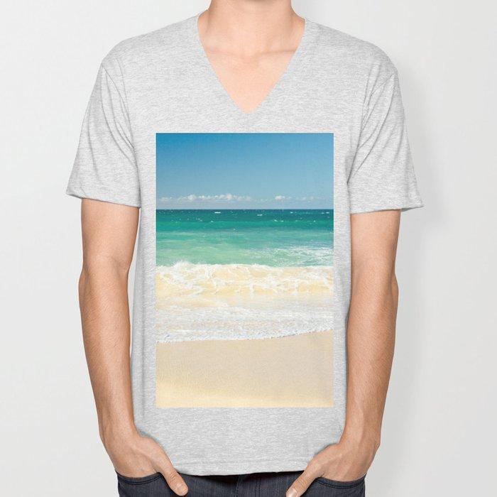 beach blue Unisex V-Neck