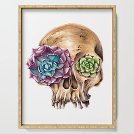 Blooming skull Serving Tray