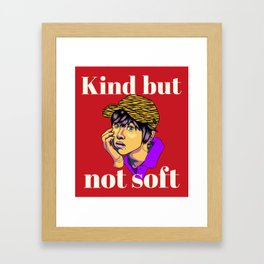 Twice Chaeyoung with kind but not soft text Framed Art Print