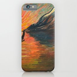 'Romantic Alpine Sunset' Landscape Painting by Marianne Von Werefkin iPhone Case
