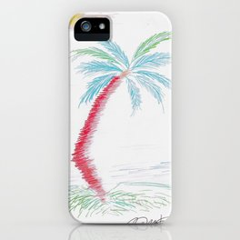 """Island Palm"" Mixed Media Sketch iPhone Case"