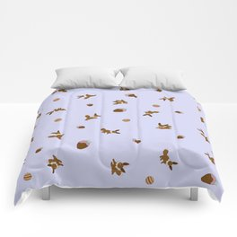 Eevee Chocolate Lilac Strawberry Print Comforters