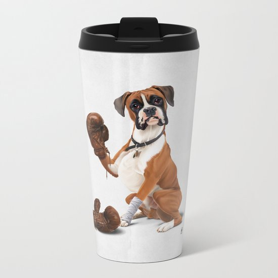 The Boxer (Wordless) Metal Travel Mug