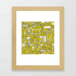 fiendish incisions chartreuse Framed Art Print