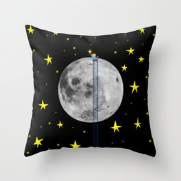 Seeding stars Throw Pillow