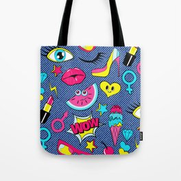 colturepop pattern Tote Bag