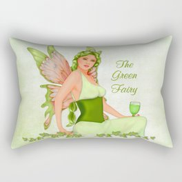 Absinthe the Green Fairy Rectangular Pillow