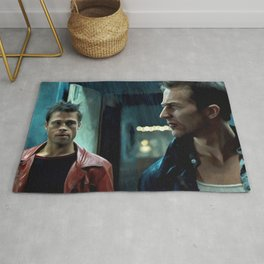 Edward Norton and Brad Pitt Rug