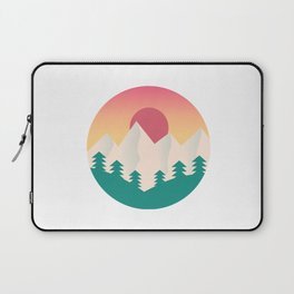 Nature artwork with gradient sunset Laptop Sleeve