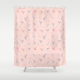 Blush Birds Shower Curtain