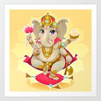 ganesh Art Prints featuring Ganesh by Danilo Sanino